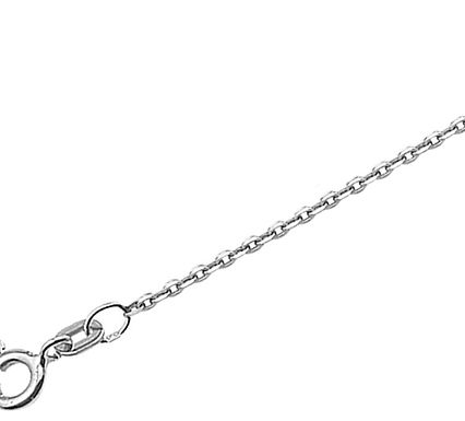Witgouden Anker ketting 1.2 mm breed - draaglengte 41-43-45 cm