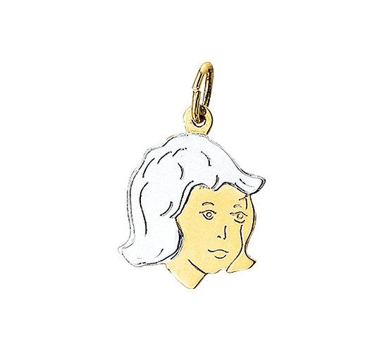 Bicolor gouden Kinderhoofdje meisje