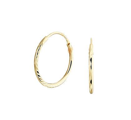 Gouden Oorringen 14 mm