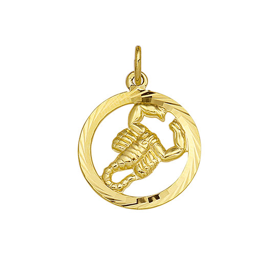 Gouden Sterrenbeeldhanger Schorpioen
