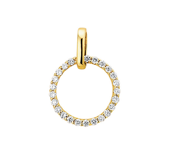 Gouden hanger Diamant 0,25 Crt.
