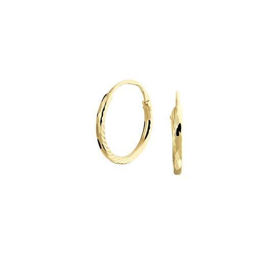 Gouden Oorringen 10 mm