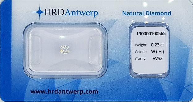 Cushion 0.23 ct - H kleur - VVS2