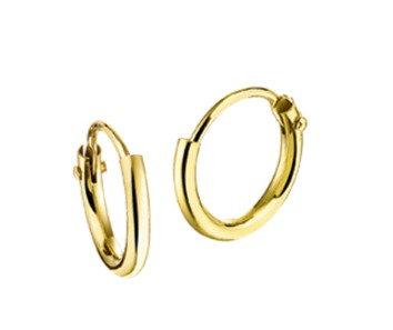 Gouden Oorringen 9 mm