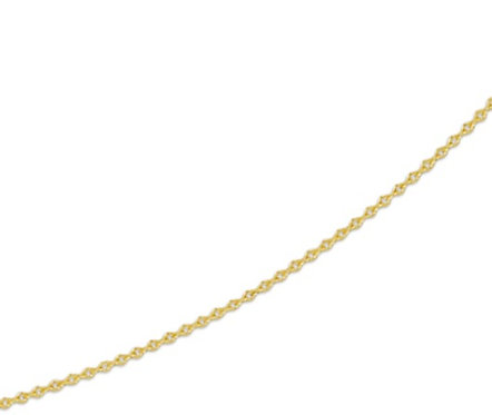Gouden Anker ketting 0.8 mm breed - 42 cm
