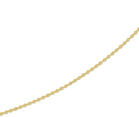 Gouden Anker ketting 0.8 mm breed - 42 cm