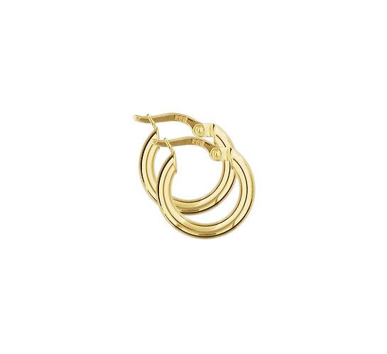 Gouden Oorringen 15 mm