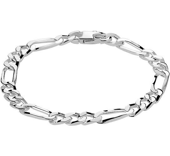 Zilveren Armband figaro 6.0 mm 20 cm