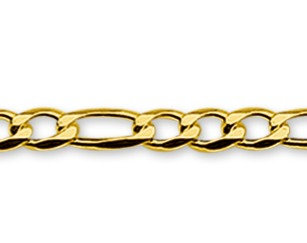 Gouden Figaro ketting 3.0 mm breed - 50 cm lang