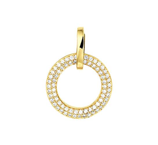 Gouden hanger Diamant 0,25 Ct.