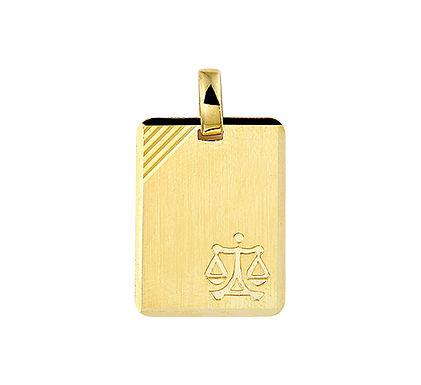 Gouden Graveerplaat met Weegschaal