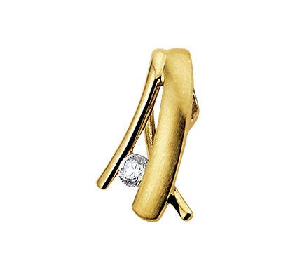 Gouden hanger Zirkonia