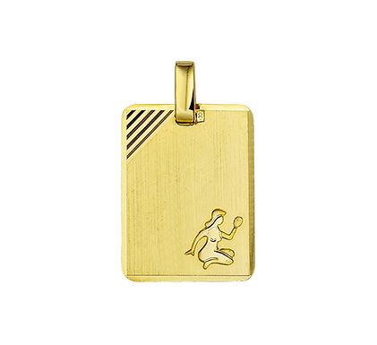 Gouden Graveerplaat met Maagd