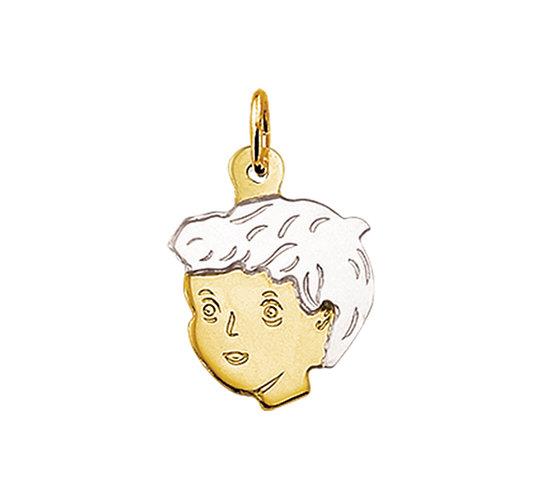 Bicolor gouden Kinderhoofdje jongen