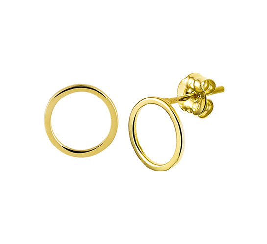 Gouden Oorknoppen Rond