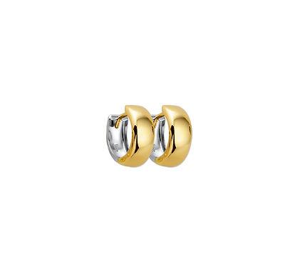Bicolor Gouden Klapoorringen 12,5 mm