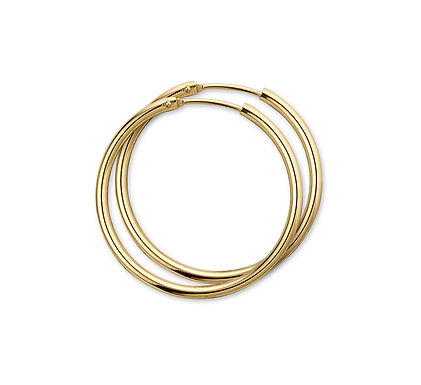 Gouden Oorringen 30 mm