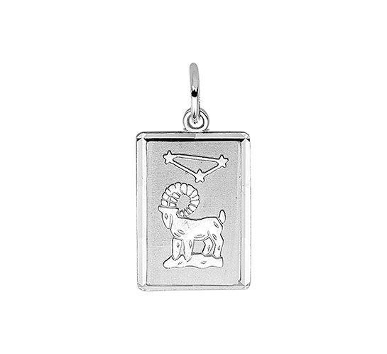 Zilveren Graveerplaat met Ram