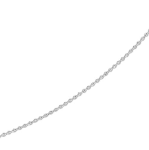Witgouden Anker ketting 0.8 mm breed - draaglengte 41-43-45 cm