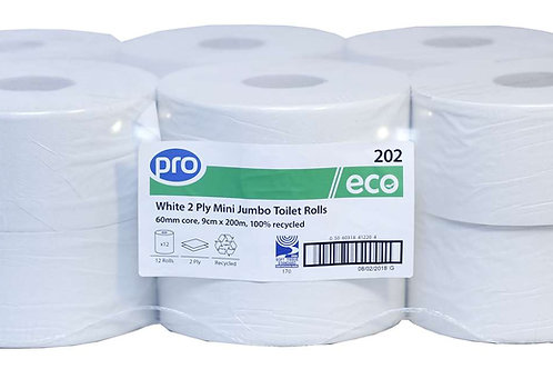 Mini Jumbo Toilet Roll x12 Rolls