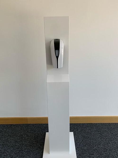 Powder coated automatic hand sanitising station