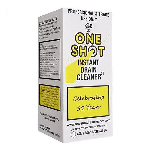 One shot drain cleaner