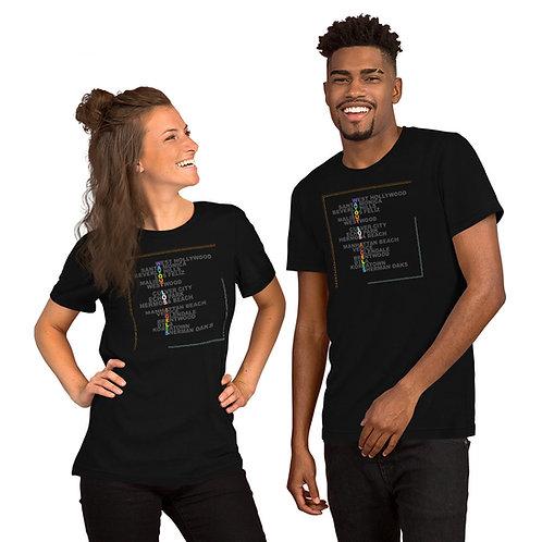 LA Gayborhoods Unisex T- Shirt Black