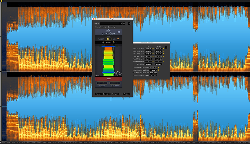 Example of a song that is -12.5 LUFS / PLR 11.5 ( peaking at -1 dBTP)