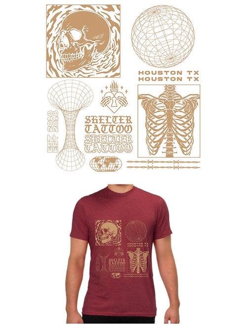 Skeletal (maroon)