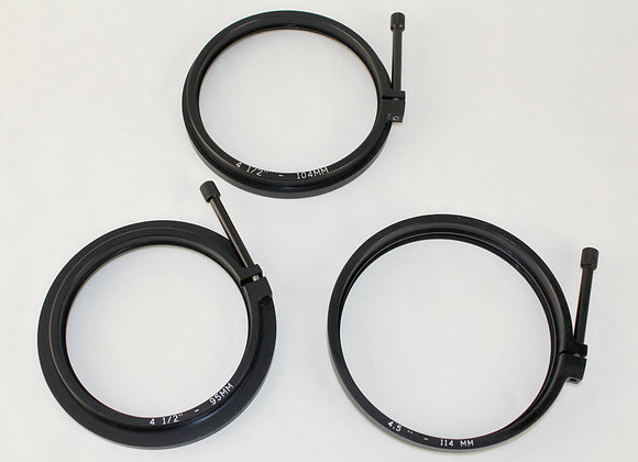 Clamp on 4 1/2 Step Up Ring with Retaining Ring