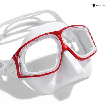 Double K Freediving Mask Jaguar R METAL - White and Red