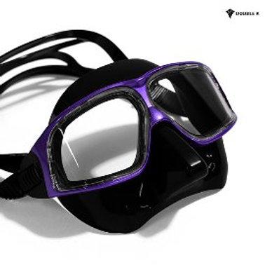 Double K Freediving Mask Jaguar R METAL - Black and Purple