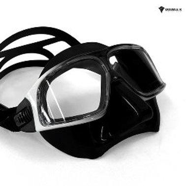 Double K Jaguar R Mask Dalmatian- Black