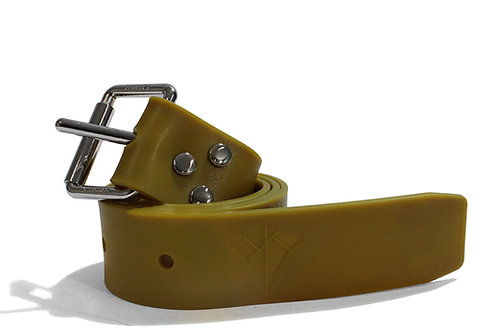 Double K Silicone Weight Belt - Olive Yellow