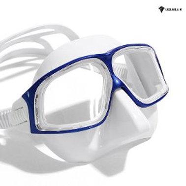 Double K Freediving Mask Jaguar R METAL - White and Blue