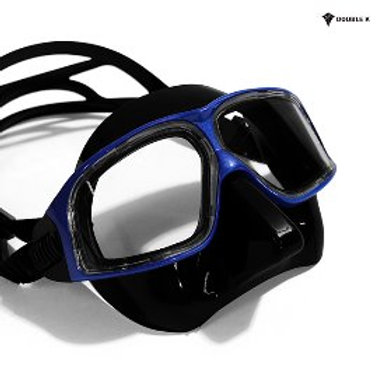 Double K Freediving Mask Jaguar R METAL - Black and Blue