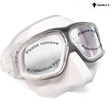 Double K Freediving Mask Jaguar R Crystal White + Grey