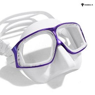 Double K Freediving Mask Jaguar R METAL - White and Purple