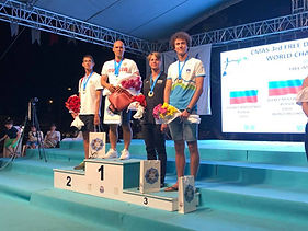 Danie Koval recive Bronze Medal at Cmas freediving World Championships in Kas, Turkey with a USA Record setting dive to -95m/312ft