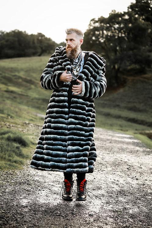 Viking Chic--Custom Hooded Faux Fur  Overcoat