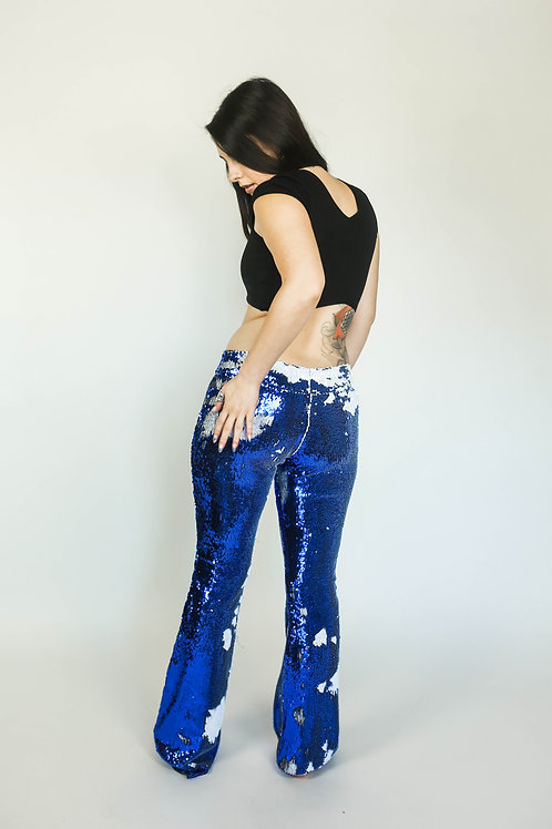 CUSTOM Flip-Sequin FLARE PANTS--Choose Your Sequins!