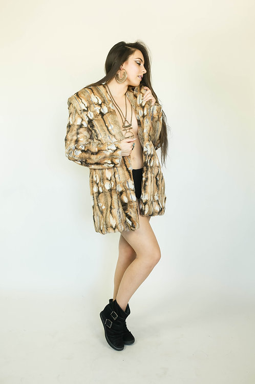THE NAKED COAT--Customize w/ Your Choice Ultra Soft Tissavel Faux Fur
