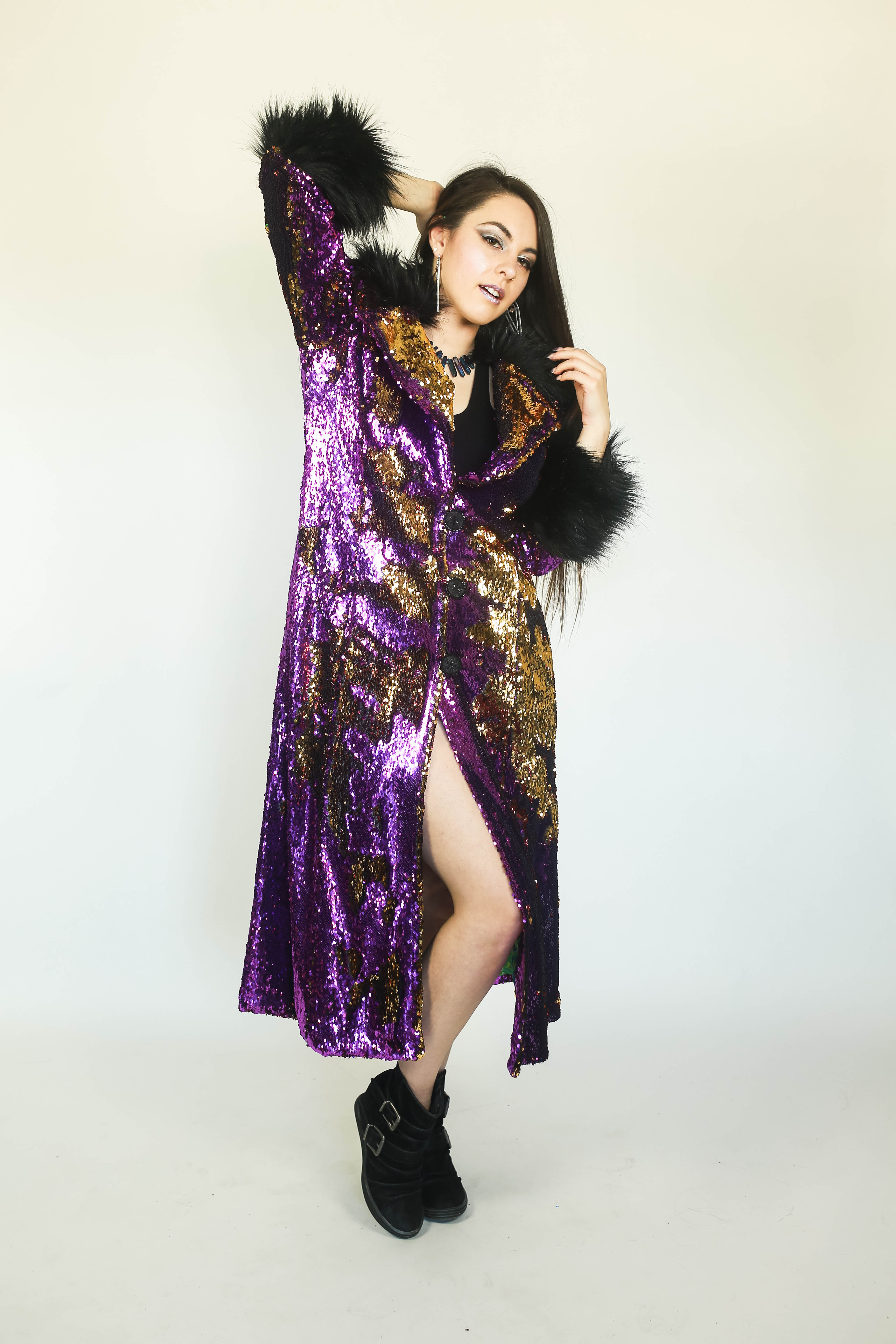 Flip-Sequin Evening Coat by SD