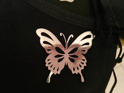 Katoen Masker met Vlinder
