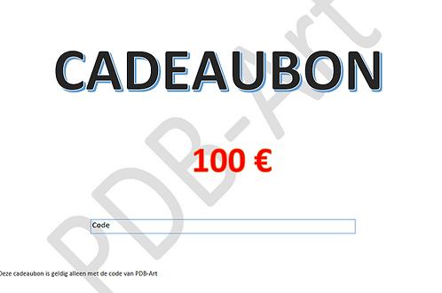Cadeaubon 100€ Dit bestand kan hier worden gedownload en uitgeprint.