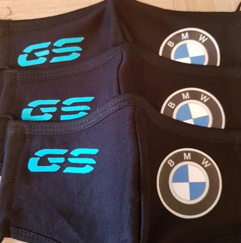 Katoen Masker met BMW Logo + uw Eigen Text