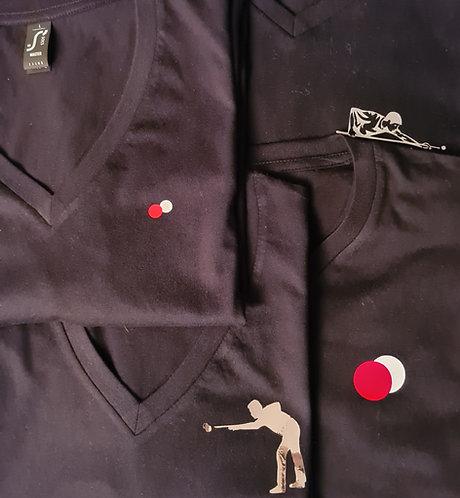 T-Shirt met Ballen of Biljarter