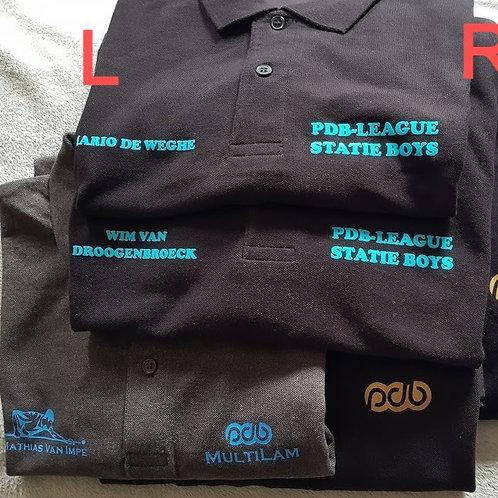 Polo Shirt met uw Naam en eigen Tekst of Biljarter