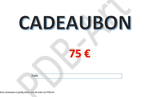 Cadeaubon 75€ Dit bestand kan hier worden gedownload en uitgeprint.