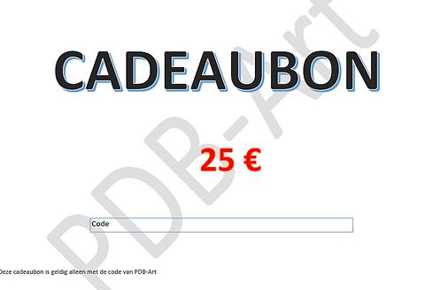 Cadeaubon 25€ Dit bestand kan hier worden gedownload en uitgeprint.